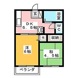 プラザ光II[2階]の間取り