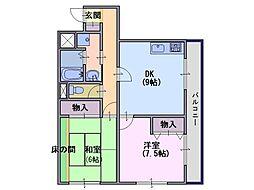 メゾンS.T[4階]の間取り