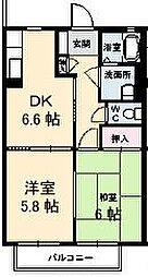 香川県高松市鬼無町佐藤の賃貸アパートの間取り