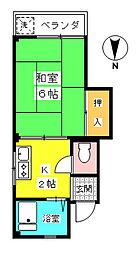 笠井マンション[301号室]の間取り