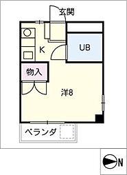ハイツハヤシ[2階]の間取り