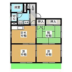 和合ガーデンハイツ[1階]の間取り