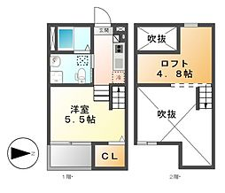 LA TACHE2(ラターシュツー)[1階]の間取り