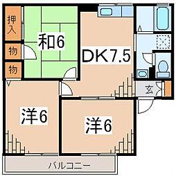ルミエールS(西酒匂)[203号室号室]の間取り