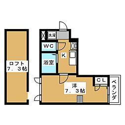 仮称)小川町共同住宅[3階]の間取り