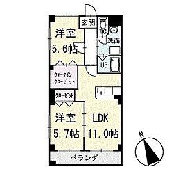 ヴィラ葵A棟 1階[103号室]の間取り