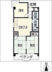 グランメゾン桜橋[2階]の間取り