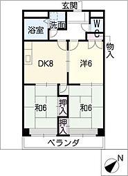 サンロードM[3階]の間取り