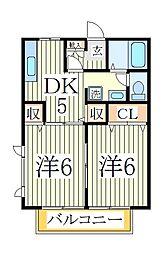 メゾン ア・ムール[2階]の間取り