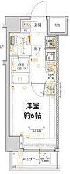 横浜市営地下鉄ブルーライン 吉野町駅 徒歩4分の賃貸マンション 2階1Kの間取り