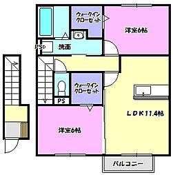 メゾンプルメトウス03[2階]の間取り