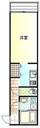 クレッシェンドマンション[106号室]の間取り