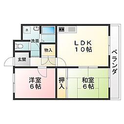 メイプル東名坂[1階]の間取り