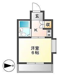 新池第一ビル[4階]の間取り