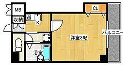 コンテニュー千代崎[4階]の間取り