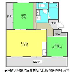 新宿団地7号棟[406号室]の間取り