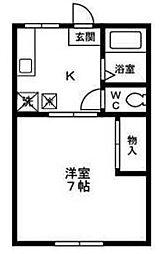 シャルマンコーポ高野B棟[105号室]の間取り