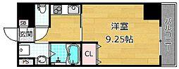 Puraria牧野阪[3階]の間取り