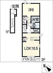ラ・シエスタ高針[2階]の間取り