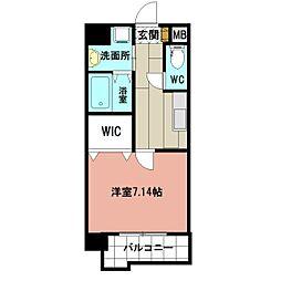 仮称)折尾4丁目賃貸マンション 6階1Kの間取り