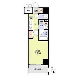 RESIDENCIA MARUNOUCHI NORTH 9階1Kの間取り