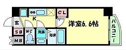 Osaka Metro谷町線 谷町四丁目駅 徒歩5分の賃貸マンション 3階1Kの間取り
