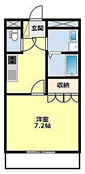愛知県豊田市花園町小泉の賃貸アパートの間取り
