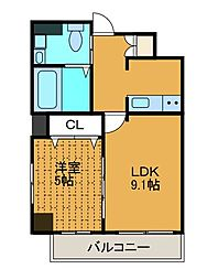 グッド・ファム[4階]の間取り