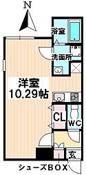 愛知県名古屋市瑞穂区駒場町6丁目の賃貸マンションの間取り