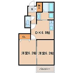 Casa Raffinato B棟[101 号室]の間取り