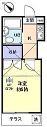 エクセレントF−I[1階]の間取り