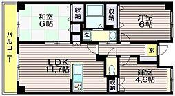 東京都世田谷区北烏山6の賃貸マンションの間取り