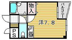 大阪府吹田市日の出町の賃貸マンションの間取り