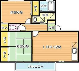 グレイス永犬丸[2階]の間取り
