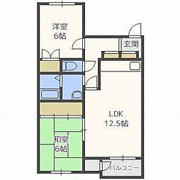 パークサイドマンション[4階]の間取り