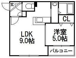 シティレジデンス[4階]の間取り