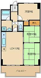 ライオンズマンション泉南樽井第二[5階]の間取り