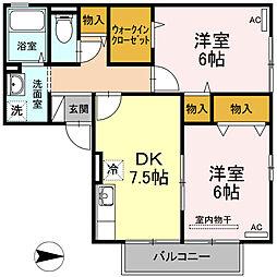 フレールM[2階]の間取り