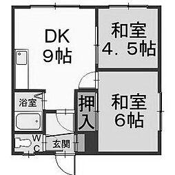 北海道札幌市清田区北野三条5丁目の賃貸アパートの間取り