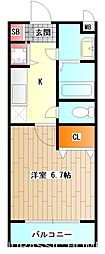 大阪府堺市堺区市之町西2丁の賃貸マンションの間取り