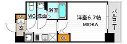サンセリテ至誠会松崎町 7階1Kの間取り