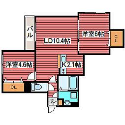 ファミリーコート福住14[3階]の間取り