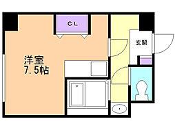 ソシアルトミイRCNo10 3階ワンルームの間取り