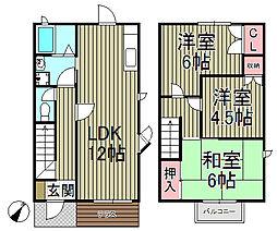 [テラスハウス] 神奈川県鎌倉市岡本1丁目 の賃貸【/】の間取り