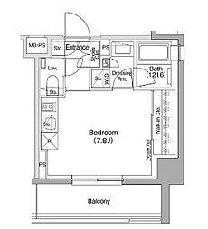 ザ・パークハビオ駒込 3階ワンルームの間取り