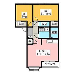 ピュアルピナス[1階]の間取り