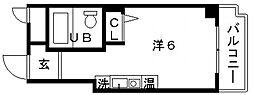 森マンション[3階]の間取り