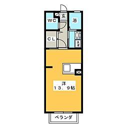 プレミール豊ケ丘 B[1階]の間取り