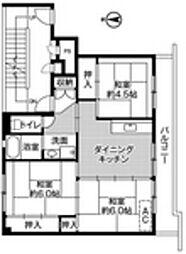 ビレッジハウス建部吉田1号棟[2階]の間取り