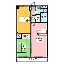 メープルパーク緑II[3階]の間取り